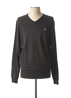 Pull col V noir OXBOW pour homme