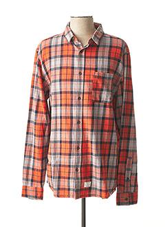 Chemise manches longues orange QUIKSILVER pour homme