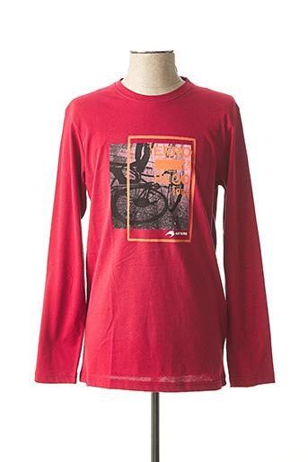 T-shirt manches longues rouge ASTORE pour homme