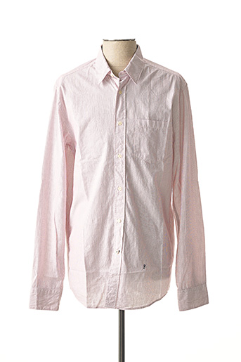 Chemise manches longues rouge PEPE JEANS pour homme