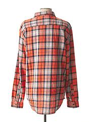 Chemise manches longues orange QUIKSILVER pour homme seconde vue