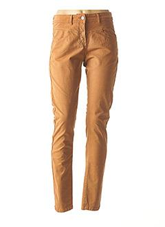 Pantalon casual marron MAE MAHE pour femme