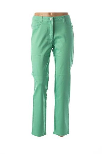 Pantalon casual vert LEBEK pour femme