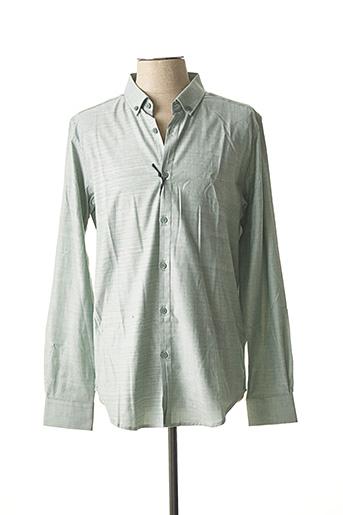 Chemise manches longues vert DSTREZZED pour homme