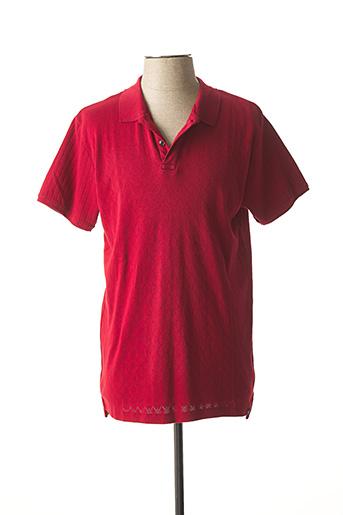 Polo manches courtes rouge DSTREZZED pour homme