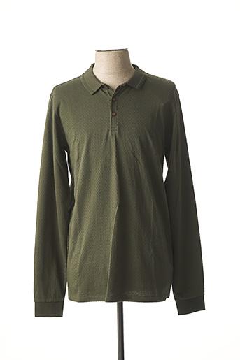 Polo manches longues vert DSTREZZED pour homme