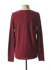 Pull col rond rouge DSTREZZED pour homme seconde vue