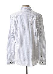 Chemise manches longues blanc DSTREZZED pour homme seconde vue