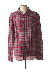 Chemise manches longues rouge DSTREZZED pour homme seconde vue