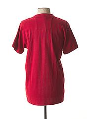 Polo manches courtes rouge DSTREZZED pour homme seconde vue