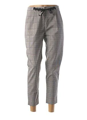 Pantalon casual gris LOLA ESPELETA pour femme