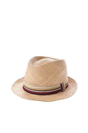 Chapeau beige CRAMBES pour homme
