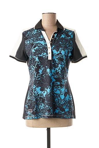 Polo manches courtes bleu SPORTALM pour femme