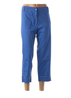 Pantalon 7/8 bleu FUEGOLITA pour femme