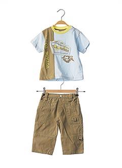 Top/pantalon vert GIRANDOLA pour garçon
