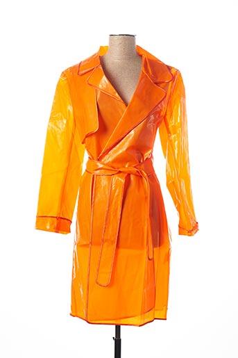 Imperméable/Trench orange RINASCIMENTO pour femme