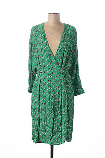 Robe mi-longue vert MANILA GRACE pour femme