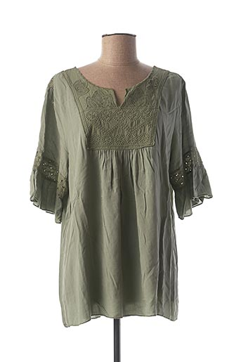 Tunique manches courtes vert MADE IN ITALY pour femme