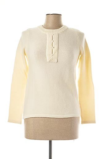 Pull col rond beige SESSUN pour femme