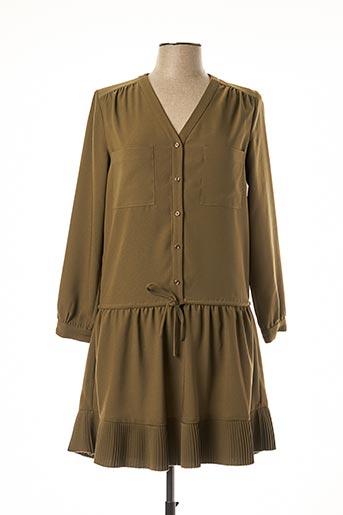 Robe mi-longue vert ATHÉ pour femme