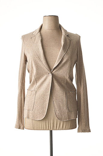 Veste chic / Blazer beige MAJESTIC FILATURES pour femme