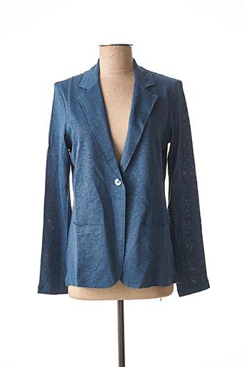 Veste chic / Blazer bleu MAJESTIC FILATURES pour femme