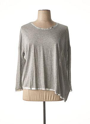 T-shirt manches longues gris FIVE pour femme