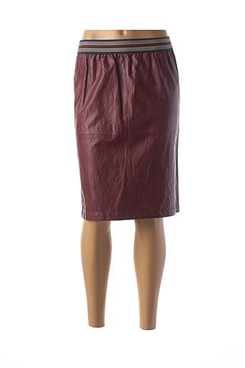 Jupe mi-longue rouge ATHÉ pour femme
