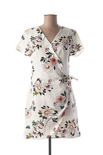 Robe courte blanc CHERRY pour femme