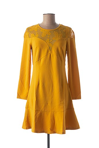 Robe courte jaune LOVIE & CO pour femme