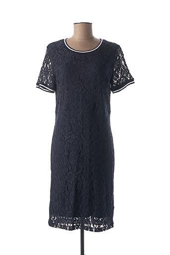 Robe mi-longue bleu GEISHA pour femme