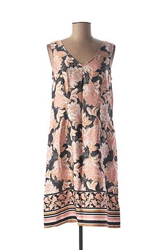Robe mi-longue rose CREAM pour femme