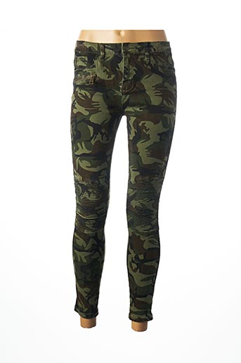 Pantalon 7/8 vert DAYSIE pour femme