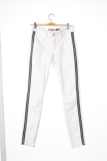 Pantalon casual blanc GEISHA pour femme