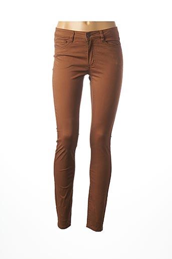 Pantalon casual marron GEISHA pour femme