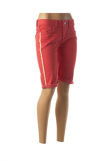 Bermuda rouge STREET ONE pour femme