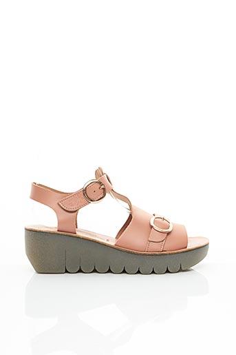 Sandales/Nu pieds rose FLY LONDON pour femme