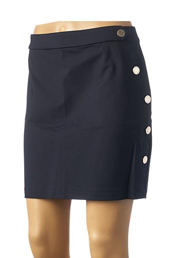 Jupe courte bleu MORGAN pour femme
