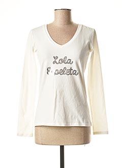 T-shirt manches longues blanc LOLA ESPELETA pour femme