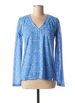T-shirt manches longues bleu LOLA ESPELETA pour femme