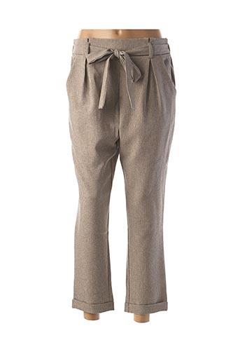 Pantalon casual beige EMMA & ELLA pour femme