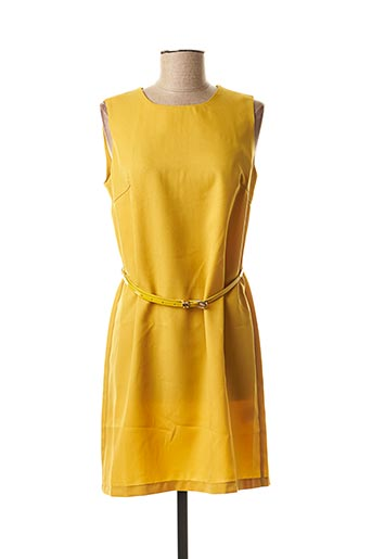 Robe courte jaune MOLLY BRACKEN pour femme
