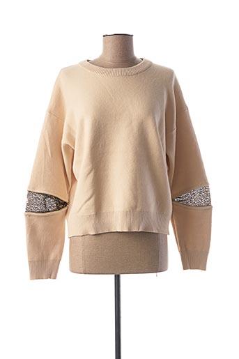 Pull col rond beige CHERRY PARIS pour femme