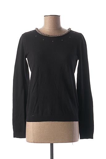 Pull col rond noir I.CODE (By IKKS) pour femme