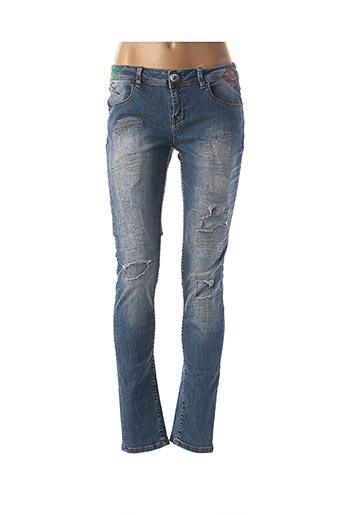 Pantalon casual bleu DESIGUAL pour femme