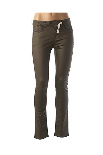 Pantalon chic vert ET COMPAGNIE pour femme