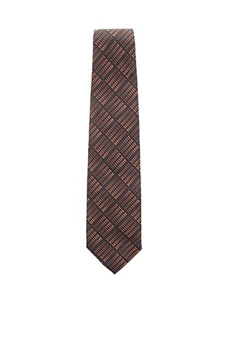 Cravate marron CESARIO pour homme