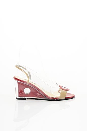 Sandales/Nu pieds rouge AZUREE pour femme