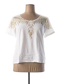 T-shirt manches courtes blanc EVA KAYAN pour femme