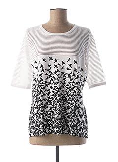T-shirt manches courtes blanc PASSIONI pour femme